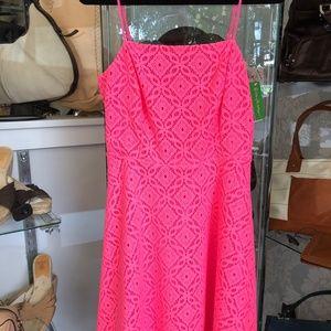 Lilly Pulitzer Hot Pink Eyelet JENNILEE Dress